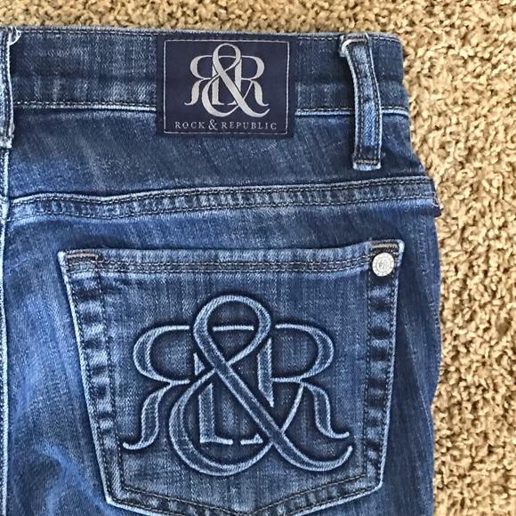 Rock & Republic Denim - Rock & Republic Kassandra Denim Flare Jeans Size 6